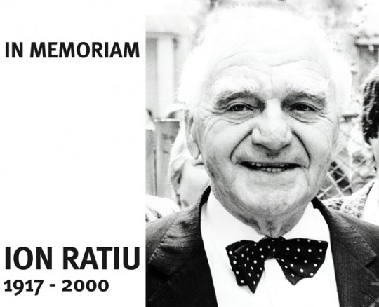 In Memoriam Ion Ratiu (1917 - 2000)