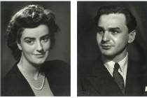 Elisabeth Ratiu and Ion Ratiu, shortly after their wedding, 1945