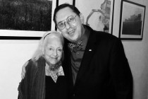 Elisabeth Ratiu with violinist Sherban Lupu. London, 2010