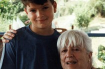 Elisabeth Ratiu with her grandson Alexandru, 1994
