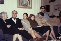 Grandmother Prodan, Ion Ratiu, Mia Prodan, Maria Bjornson, Elisabeth Ratiu, Indrei Ratiu. London, 1965